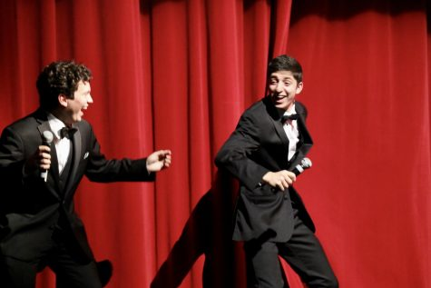 The Variety Show, held on Wednesday, March 11, showcased 17 different acts performed by several talented students. Seniors Alex Ovan and Nick Moawad hosted the show with skits and introductions between each act.