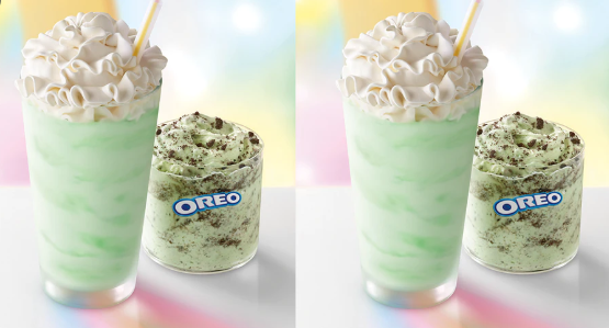 The Shamrock Shake and Shamrock McFlurry are brought back to celebrate St. Patrick's Day.