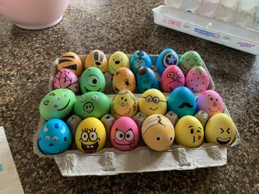 One way to celebrate Easter at home is to decorate Easter eggs. This is the perfect activity to do with the whole family and you can purchase decorating sets at any local craft or grocery store.