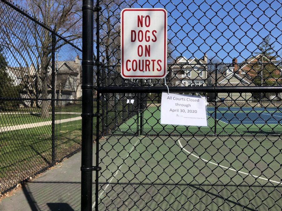 Despite the fact that public courts and parks have shut down, many people continue to use them.