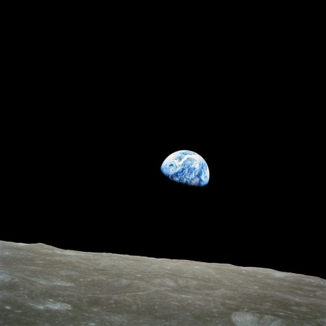 "Earthrise. Astronaut William Anders took this photo during his space exploration on December 24, 1968. Nature photographer Galen Rowell called the image ""the most influential environmental photograph ever taken""."