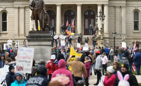 A couple hundred protestors stormed Michigan's capital on Wednesday, April 15 in Lansing against Governor Gretchen Whitmer's extension of the coronavirus stay-at-home order. The protests spurring across the country are fostering large amounts of people, essentially putting more at risk.