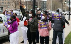 Nursing home workers prepare to strike in the Chicago-area to fight for personal protection during the coronavirus outbreak.
