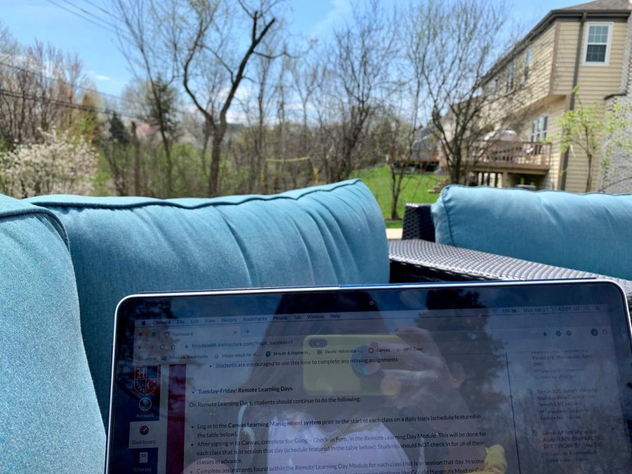 Enjoy the sun by grabbing your computer and sitting outside as you do your e-learning.