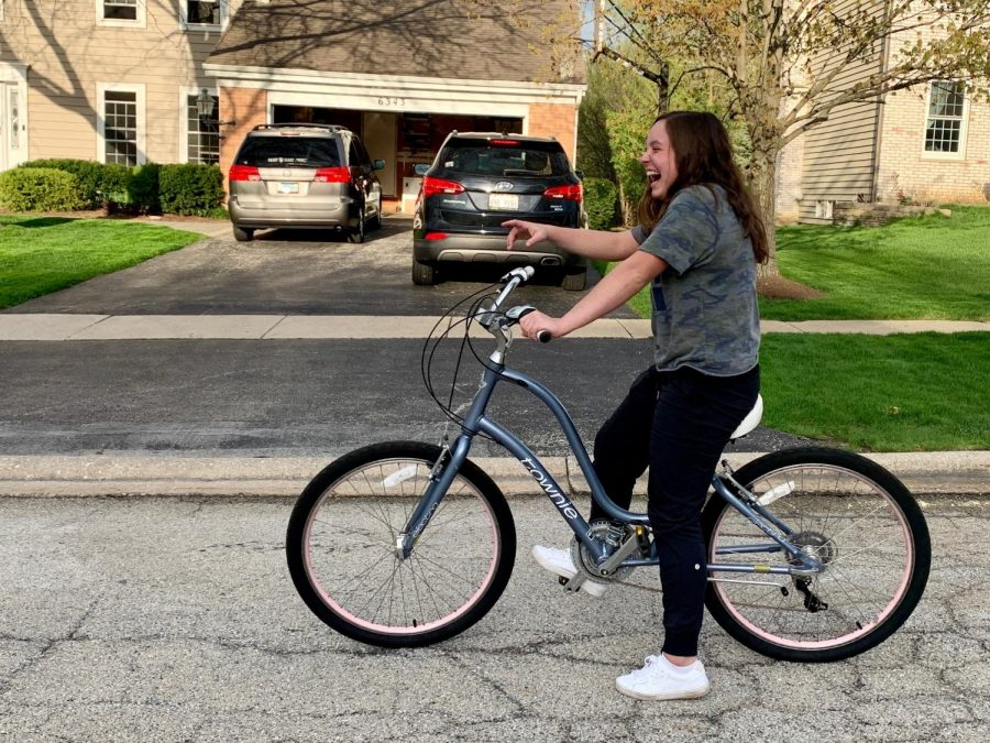 Going on a bike ride is a fun way to get some exercise and pass the time.