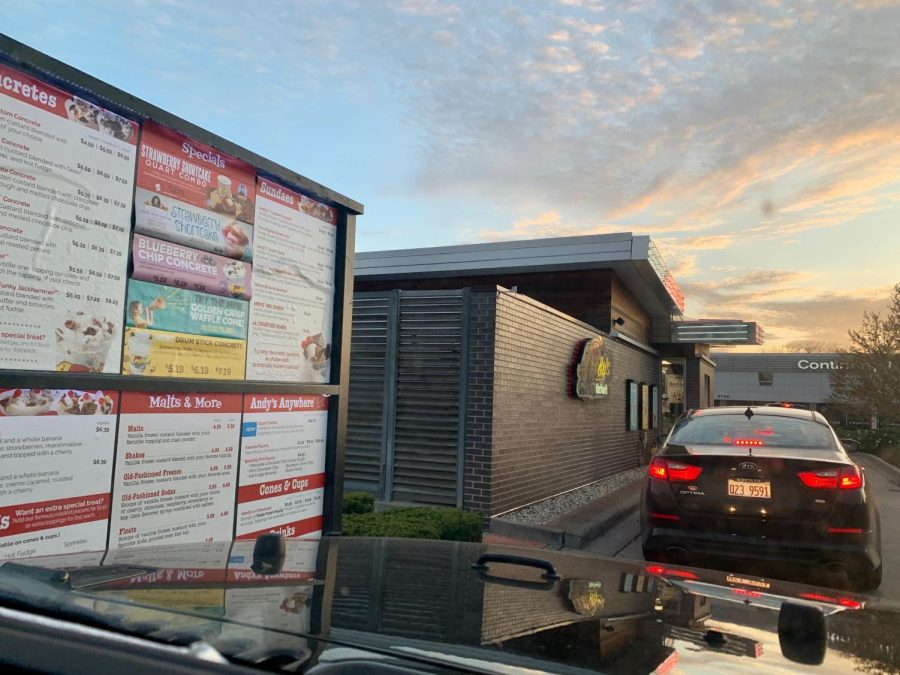 As the weather gets nicer, there are many ways to enjoy the sun in quarantine. One way is to go through the drive-thru lane at your favorite ice cream shop, such as Andy's Frozen Custard.
