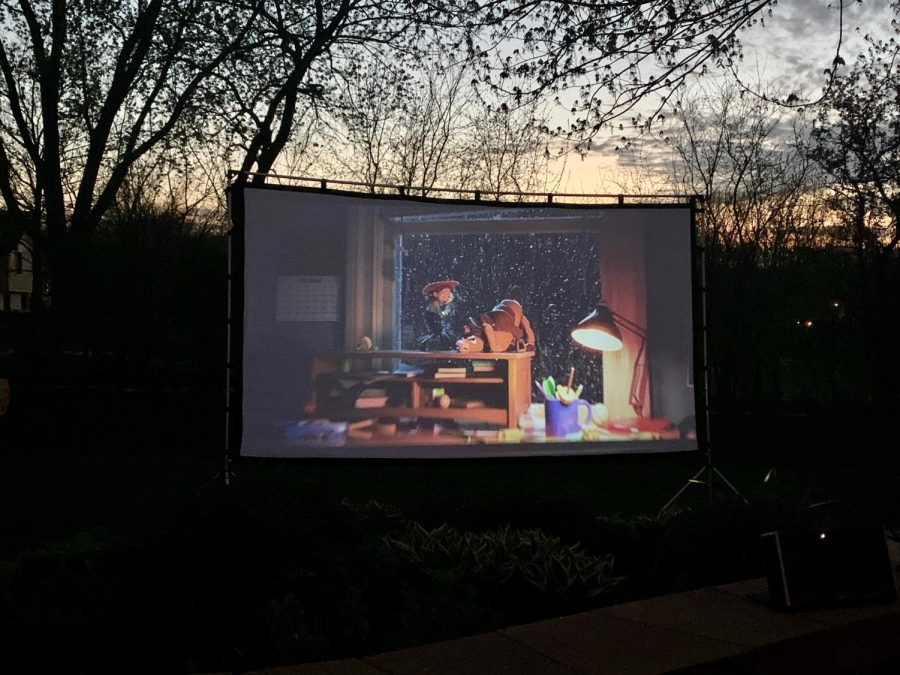 Make movie night extra special by using a projector and white screen to turn your backyard into a movie theater. All you need then are some blankets, snacks, and your favorite movie.