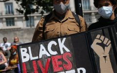 George Floyd's death in May sparked worldwide Black Lives Matter protests.
