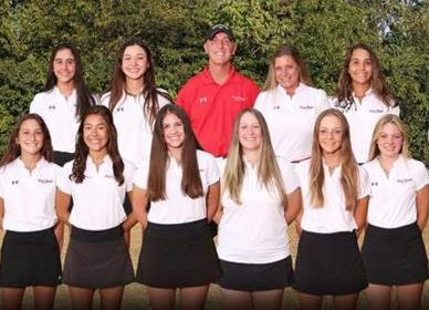 The Girls' Varsity golf team was one of a select few teams that were able to participate this fall.