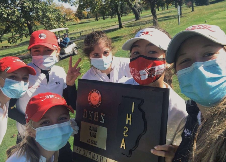 Girls' golf finished off the season strong with a win at sectionals.