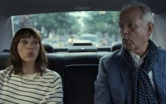 Rashida Jones's Laura and Bill Murray's Felix as they ride around New York City together.