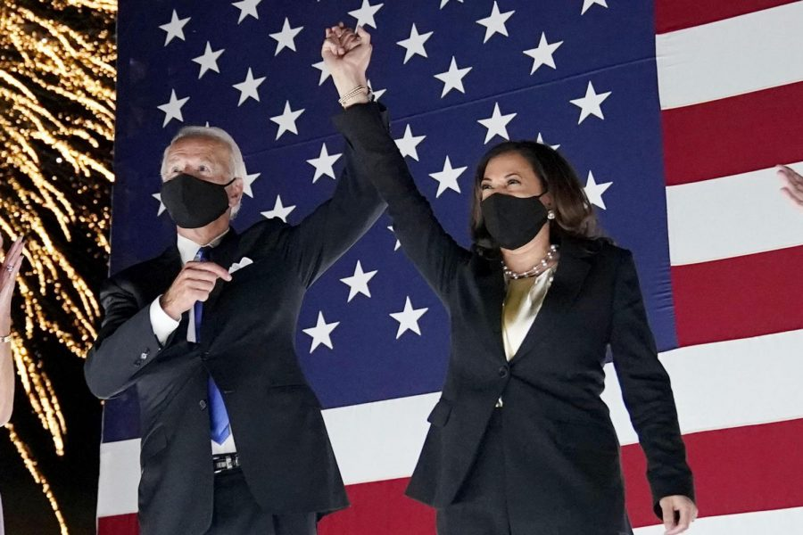 President-elect Joe Biden and Vice President-elect Kamala Harris after Biden's address to the nation.