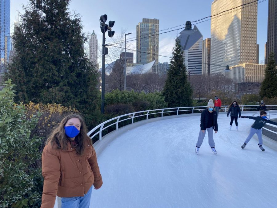 There was plenty of room to safely skate while maintaining distance from others at the Maggie Daley Rink in Chicago.