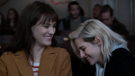 Kristen Stewart and Mackenzie Davis star in the film as Abby Holland and Harper Caldwell.