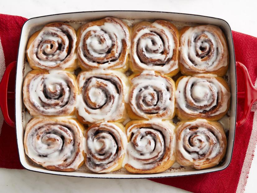 Cinnamon rolls made from a recipe by Food Network are a great option to ward off the cold this winter.