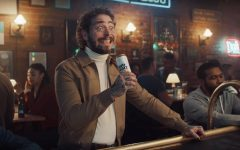 Rapper Post Malone appears in a commercial for Bud Light Seltzer that aired at the 2021 Super Bowl.