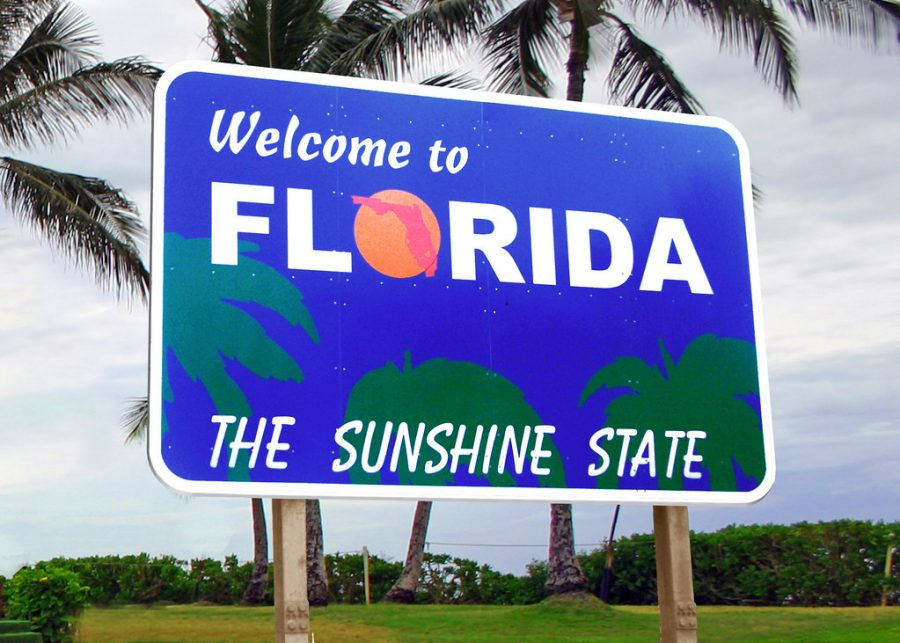 This sign shows the welcoming weather and attitude of popular vacation destinations such as Florida.