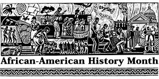 Black History Month banner featuring an image helping to tell the story of the past.