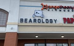 The outside of Bearology the cute bubble tea shop that has been blowing up your TikToc feed.