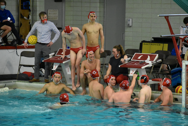 """""""All we can try to do for the rest of the season is that they try to have the best attitudes with the last four weeks of the season because it's been an interesting year, a difficult year, but I know they wouldn't want to do it with anyone else and that's all that we can ask for,"""" said Ms. Christina Brodell, water polo coach and spanish teacher."""