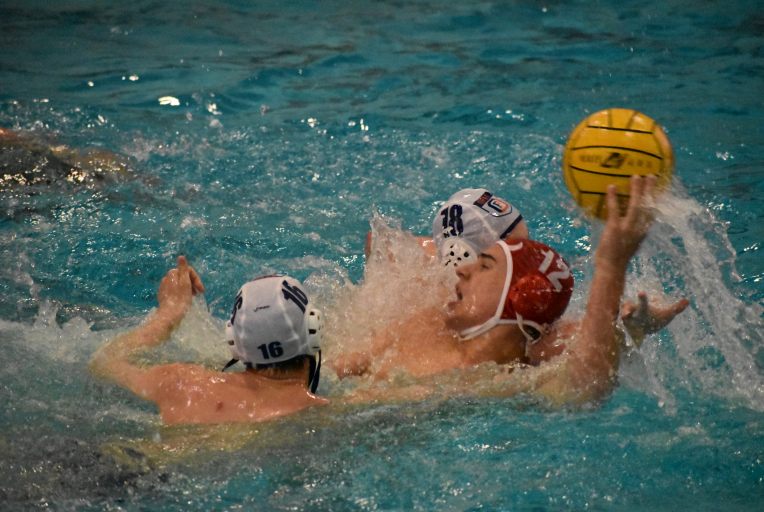 Two weeks ago, a player on Lyon Township High School's water polo team contracted Covid-19, so the entire varsity team took necessary precautions and quarantined for two weeks, which meant no conditioning or practices. Their game against OPRF on April 20 was the same day they were safe to resume the season.