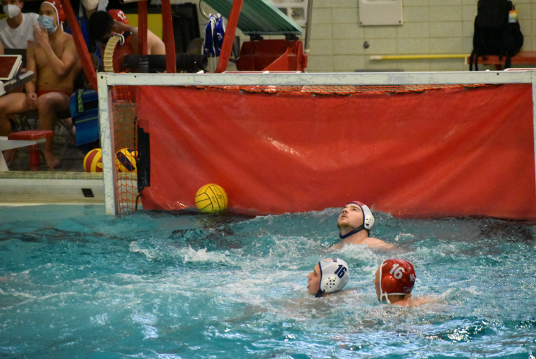 On Monday, April 20 the boys' water polo team lost to Oak Park River Forest High School 8-17.