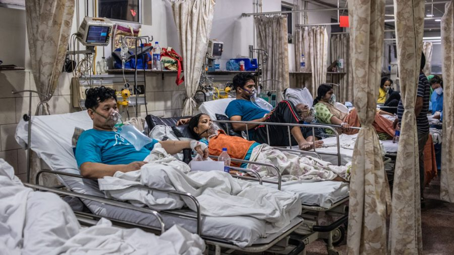 In+the+emergency+ward+of+a+hospital+in+New+Delhi+on+May+3%2C+patients+relied+on+oxygen+as+they+battled+COVID-19.+