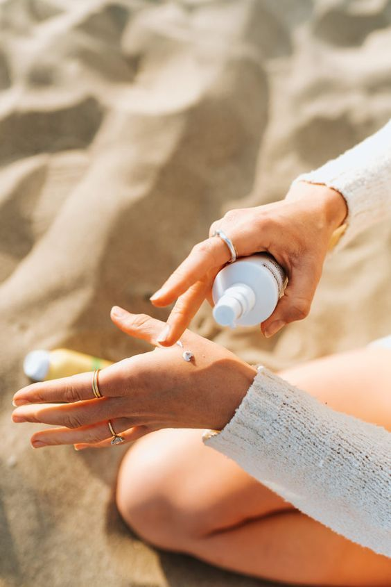 Sunscreen protects the skin from dangerous, cancer-causing UV rays.