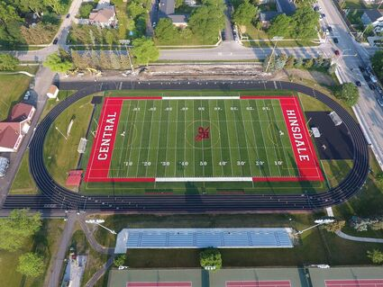 Hinsdale Central Junior and Senior girls are now able to participate in the powderpuff game again, after a year off due to COVID-19, on the new field.