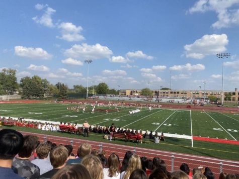 The pep rally was hosted outside on Sept. 30 on the field to excite students for the dance.