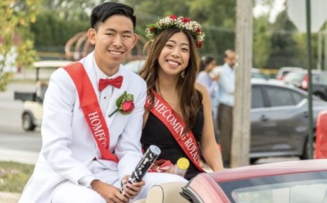 Seniors Maurice Tobiano and Grant Zhang participated in the homecoming parade on Oct. 2.